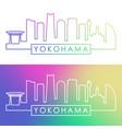 yokohama skyline colorful linear style editable vector image vector image