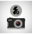 retro camera photographic flash icon vector image