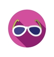 Sunglasses flat icon with long shadow vector image