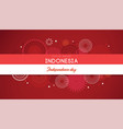 17 of august on firework background banner for vector image vector image