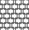 3D gray interlocking squares vector image vector image