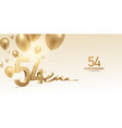 54th anniversary celebration background vector image vector image