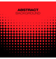 Abstract Black Red Halftone Background vector image vector image