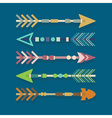 abstract close up aztec arrows icons set vector image
