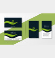 abstract green professional business card design vector image vector image
