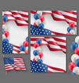 american patriotic festive posters set vector image