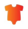 Baby sign Orange applique isolated vector image vector image