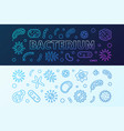 bacterium microbiology blue banners vector image vector image