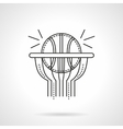 Basketball shot flat line icon vector image vector image