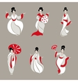 Beautiful Chinese Women vector image