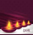 beautiful diwali diya festival background design vector image vector image