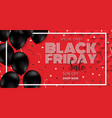 black friday sale promotion poster vector image