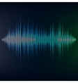 Blue sound wave on blackbackground EPS10 vector image vector image