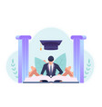 businessman studying and reading a book vector image vector image
