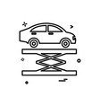 car lifter repairing icon design vector image