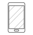 cellphone icon cartoon in black and white vector image vector image