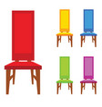 chair old model in different color vector image vector image