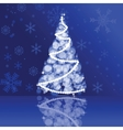 Christmas card in blue colors vector image vector image
