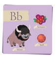 colorful alphabet for kids - letter b vector image vector image