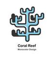 coral reef monocolor vector image