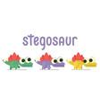 cute sregosaurus walking dinosaur life vector image vector image