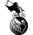 death bicycle and earth vector image vector image