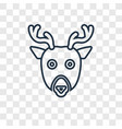 deer concept linear icon isolated on transparent vector image
