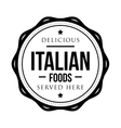 Delicious Italian Foods vintage stamp vector image