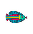 doodle fish vector image vector image