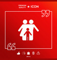 family with child - icon vector image vector image
