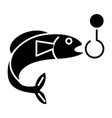 fishing 1 icon black sign on vector image vector image