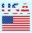 flag united states america solid vector image vector image