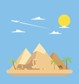 Flat design of pyramids Giza vector image