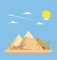 Flat design of pyramids Giza vector image