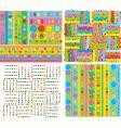 Funky geometric designs vector image