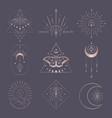 golden abstract mystic line design elements vector image vector image