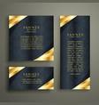 golden luxury banner design set