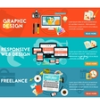 Graphic Design Responsive Webdesign and Freeance vector image vector image