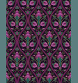 green and lilac floral pattern vector image vector image
