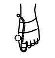 hallux valgus brace and big toe orthopedic vector image vector image