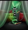 hookah lounge interior vector image
