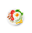 icon fried eggs for breakfast icon healthy vector image vector image