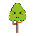 kawaii cute funny tree ecology vector image vector image