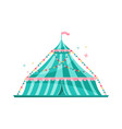 large blue striped circus tent decorated with vector image vector image