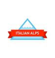 logo of italian alps vector image vector image