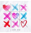 Love noughts and crosses game vector image