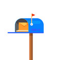mail box icon post mailbox letter vector image