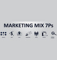 marketing mix 7p banner for business and vector image vector image