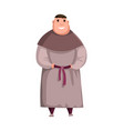 medieval kingdom character isolated monk in vector image vector image