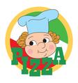 Pizza label vector image